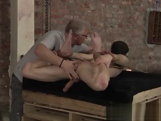 bound Bound slave wax tormented while being spanked and stroked slave