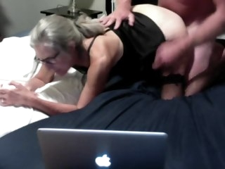 milf Hot MILF Gets Fucked From Behind Gets Cum All Over Her Ass Mature Granny gets