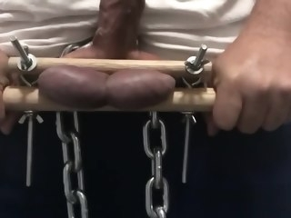 ball Big Ball Torture and Huge Cum - KG torture