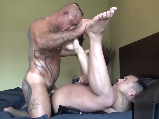 muscle Muscle Daddy Breeding his Cub - BareBackrt Media daddy