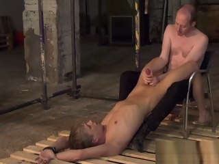 blond restrained