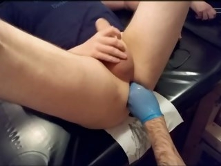 training Deep Training with thick long Dildo plus Hand thick