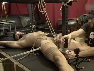 tied Tied gagged spead eagled and edged gagged